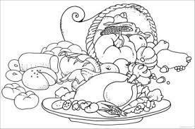 cornucopia coloring pages for thanksgiving thanksgiving