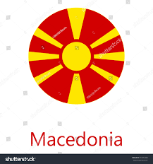 Macedonian Flag Vector Illustration Macedonia Flag Vector Icon Stock Vector
