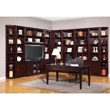 Computer Desk With Bookcase by Parker House Boston Corner Bookcase Merlot Hayneedle