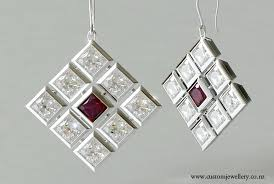 diamond earrings nz ruby contemporary princess cut diamond pendant earrings new zealand