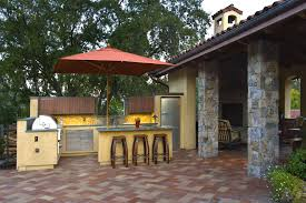 Cheap Patio Floor Ideas Superb Brinkmann Smoke N Grill In Patio Mediterranean With Stone