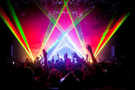 midnight conspiracy laser light show heavy bass experiance press