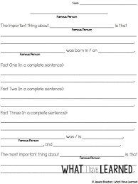 free biography graphic organizer 4th grade biography reports