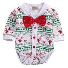 amazon com newborn baby boy snowflake coat romper playsuit