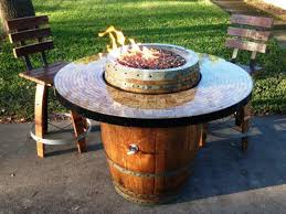 Make Your Own Firepit Make Your Own Wine Barrel Pit Table Fireplaces