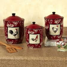 kitchen attractive red rooster kitchen pots design what makes