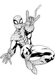 spiderman coloring pages coloring bookinfo spiderman swining