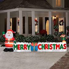12 ft outdoor merry sign w