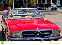 mercedes classic classic convertible car red mercedes benz 560sl editorial image