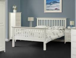 Barcelona Bedroom Furniture Julian Bowen Barcelona High Foot End White 5ft Kingsize