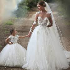 bridal gowns sheer sleeves tulle princess wedding dresses 2017