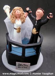 ring cake topper wwf and groom wedding cake topper pro