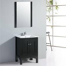 shop yosemite home decor 24 in black transitional single sink