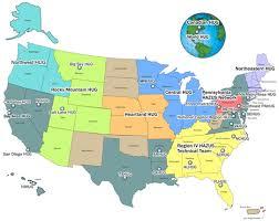 fema region map hazus user groups fema gov