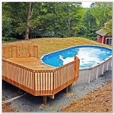 round above ground pool decks decks home decorating ideas