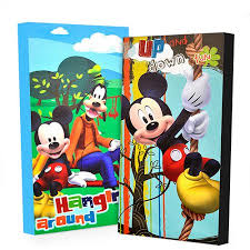 disney mickey mouse glow dark 2 pack canvas wall art