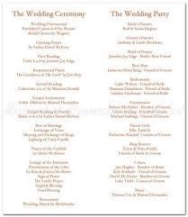 wedding program wording wedding program inclusions best 25 wedding program etiquette