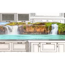 Kitchen Backsplash Wallpaper Kitchen Backsplash Waterfall 50 Desing Ideas For Kitchen