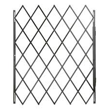 Decorative Garden Gates Home Depot Grisham 48 In X 79 In Black Expandable Security Gate 90002 The