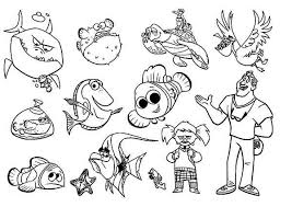 finding nemo characters coloring pages coloring pages ideas