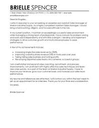 Sales Cover Letter Example Best Sales Assistant Manager Cover Letter Examples Livecareer