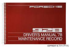 porsche 928 maintenance porsche 928 manual ebay