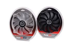 high cfm case fan thermaltake announces luna pure series led high airflow fans