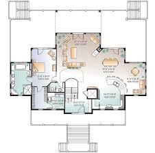 Beach House Layouts Vacation Beach House Plan 21638dr Architectural Designs