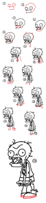 thanksgiving drawings step by step how to draw a zombie from plants vs zombies