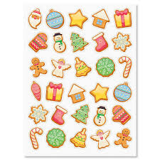 christmas stickers christmas cookie stickers current catalog