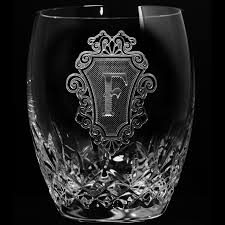 engraved barware engraved waterford crystal whiskey glasses scotch bourbon barware