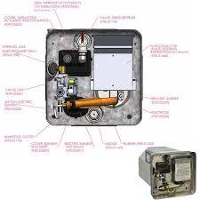 suburban sw6dea 22 6l rv motorhome water heater gas 240v