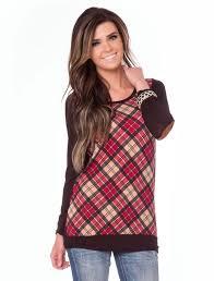 plaid sweater plaid sweater patches affordable modest boutique clothes
