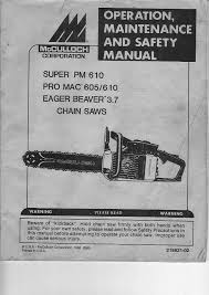 mcculloch montgomery ward chain saw manual documents