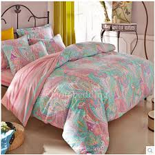 light teal pretty patterned quality bedding sets on sale