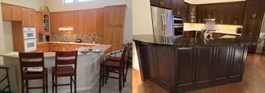 Stain Kitchen Cabinets Before And After Cabinet Refinishing Phoenix Az U0026 Tempe Arizona Kitchens Bathrooms