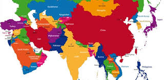 asia map asia map and capitals major tourist attractions maps