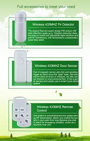 wifi control cordless gsm wireless home alarm system kit