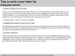 server cover letter banquet server resume cover letter food