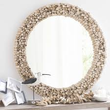jakarta teak round mirror d 100cm chambre amt pinterest