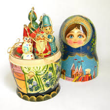 russian doll decorations lights card and decore