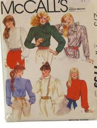 simplicity 5200 womens steampunk blouses 80s vintage sewing
