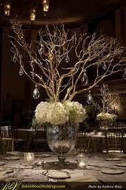Manzanita Branches Centerpieces White Manzanita Tree Centerpiece Wedding Centerpiece In Mercury