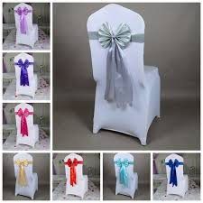 chair sashes wholesale silver colour chair sash butterfly style wedding chair