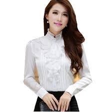 blouse ruffles ruffles blouse puls size white satin blouse fashion