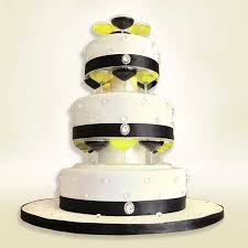 wedding cake theme black and white cocktail theme cake with diamantes