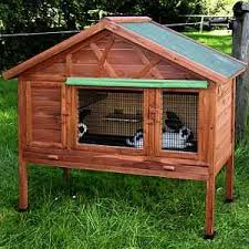 small pet hutch rabbit house with warmth insulating walls it