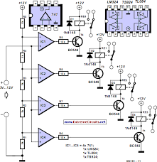 voltage levels control relays circuit diagram