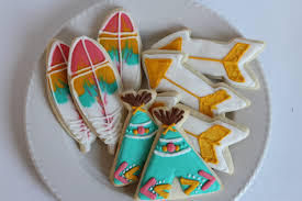 favor cookies one sugar cookies boho party favor decorated cookie