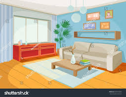vector illustration cozy cartoon interior home stock vector